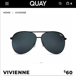 *NEW* QUAY Australia Vivienne Aviator Sunglasses
